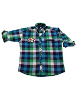 LITTLE MAN Cotton Boy's Shirt (LM1C2_12 , Red, 12)