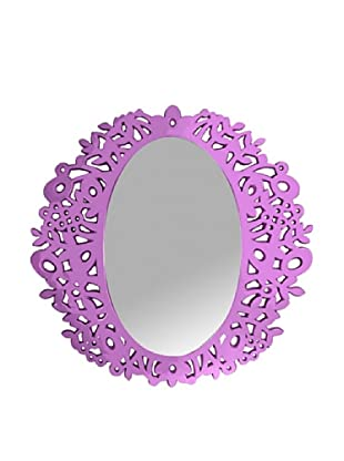 Oval Cut-Out Mirror, Purple