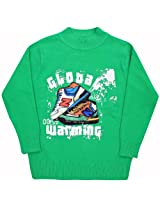 Stylish Full Sleeves T-Shirt With Global Warming Print