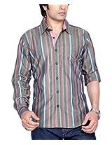 Moksh Men's Striped Casual Shirt V2IMS0414-15 (X-Large)