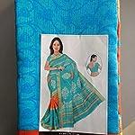 Multi Cotton Saree With blouse piece