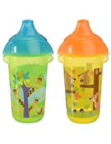 Munchkin Click Lock Sippy Cup, 9 Ounce, 2 Count (Giraffe/Forest)