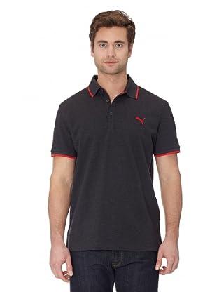 Puma Polo T-Shirt Sports Casual Polo (dark gray heather)