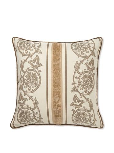 Elsa Blue Scrollwork Indoor/Outdoor Pillow, 20
