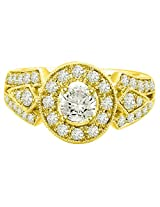 1.30TCW H/VVS1 GIA Certified Diamond Engagement Ring