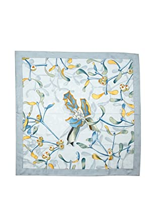 Hermes Women's Carre Scarf, Light Grey\/Blue