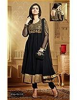 Stylowoman Anarkali Style Black Georgette Salwar Suit