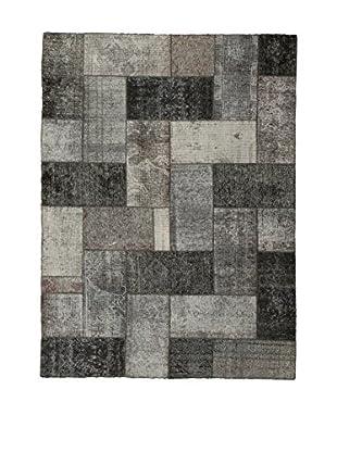 Design Community By Loomier Teppich Revive Vintage Patch grau/schwarz 175 x 236 cm