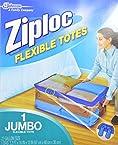 Ziploc Flexible Totes, Jumbo, 22 Gal Size.
