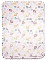 Kidsline Fanciful Floral Velour Rick-Rack Blanket