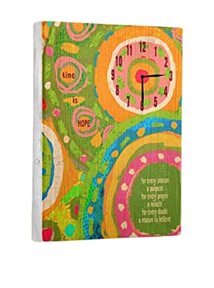 Time is Hope Reclaimed Wood Clock