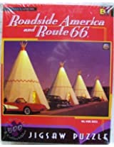 """Buffalo Games, Inc. 500 Piece Jigsaw Puzzle Roadside America And Route 66 """"Wig Wam Motel"""" By Cindy Lewis By Buffalo Games, Inc."""