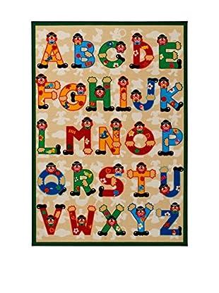 ABC Tappeti Teppich Sevi Abc Rug beige/mehrfarbig 100 x 140 cm