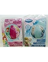Girls Summer Beach Balls Frozen And Disney Princess Bundled