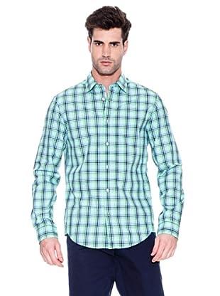 Hugo Boss Camisa Bugsville (Verde / Marino)