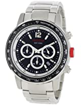 Red Line Watches, Men's Meter Chronograph Black Dial Stainless Steel, Model 50012-11