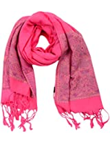 MALTDZ Women's Cashmera and Silk Pashmina Scarf (Light Pink)