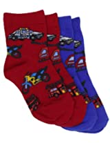 Country Kids Baby Boys' 911 Emergency 2 Pair Socks