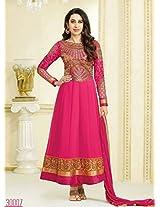 Karishma Kapoor Pink Georgette Kalidar Anarkali Salwar Kameez Suit