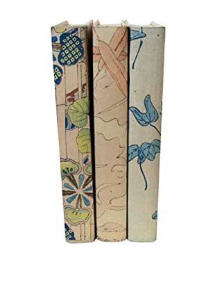 By Its Cover Hand-Rebound Set of 3 Floral Decorative Books, III