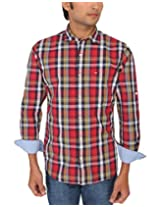 Red Flame Men's Red Slim Fit Casual Shirt