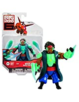 """Bandai Year 2014 Disney """"Big Hero 6"""" Movie Series 4 Inch Tall Action Figure : Wasabi No Ginger With 2 Removable Plasma Blades"""