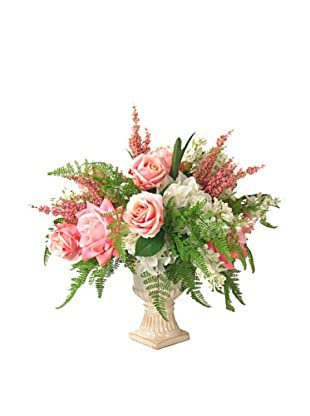 Creative Displays Rose, Fern & Hydrangea in Urn