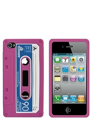Blautel iPhone 4/4S Funda Silicolor Retro Cassete Rosa