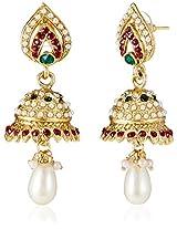 Ava Traditional Jhumki Earrings for Women (Golden) (E-VS-1926)