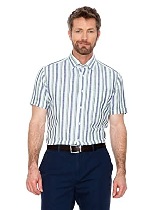 Cortefiel Camisa Multicolor (Azul / Blanco / Verde)