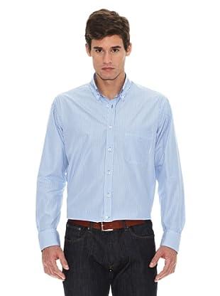 Turrau Camisa Raya Fina Tricolor Rayas (Azul)