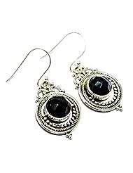 Gemoratti 925 Silver Black Onyx Earrings For Women - B00MIJG3MU