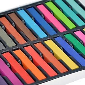 Bestfavor Temporary Color Hair Dye, Chalk Pastel, 24 colors
