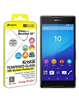 Amzer Kristal Tempered Glass HD Screen Protector for Sony Xperia Z4/Z3 Plus - Retail Packaging - HD Clear