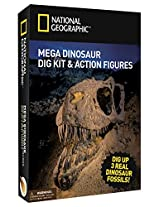 Mega Dinosaur Dig 2 Dino Action Figures And Real Fossil Dig