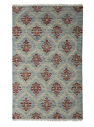Darya Rugs Ikat Oriental Rug, Blue, 4' x 6' 4