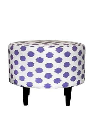 Sole Designs Sophia Jojo Round Ottoman, Thistle