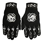 Hot Leathers Hardcore Mohawk Mechanic Gloves (Black, Medium)