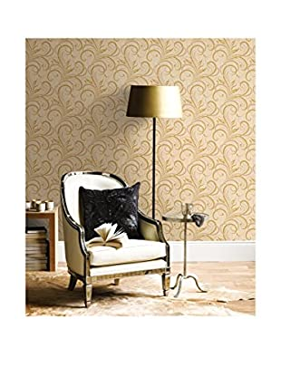 Brewster Rauda Modern Scroll Strippable Wallpaper, Taupe