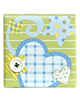 Aurora Baby Canvas Wall Art, Heart and Star