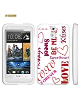 Spots8 for HTC One E8 Glossy Image Graphic Designs 2 Piece Snap On Images Cellphone Cell Phone Hard Protective Case Cover - Love You Forever Design
