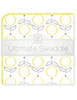 SwaddleDesigns Ultimate Receiving Blanket, Lolli Fleur, Yellow