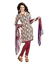 Riti Riwaz Multi Printed Drees Material With Dupatta BNJ3001