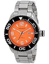 Akribos XXIV Men's AK511OR Explorer Analog Display Japanese Quartz Silver Watch