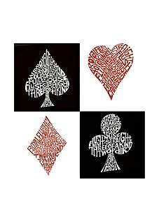 """L.A. Pop Art 24"""" x 24"""" Poker Hands Canvas"""