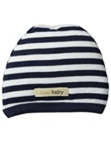 L'ovedBaby Baby Boys' Organic Cute Cap, Navy White, 12-24 Months