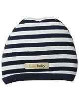 L'ovedbaby Unisex-Baby Newborn Organic Cute Cap, Navy/White, 0/3 Months