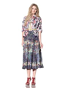 Gregory Parkinson Women's Silk Linen Bias Jacket (Polka Dot)