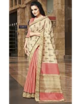 Peach Color Bhagalpuri Silk Sarees for Ocassions: Rhea Collection YF-20723