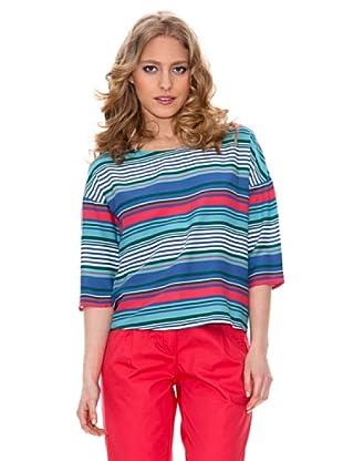 Springfield Blusa Estampada Rayas (Multicolor)